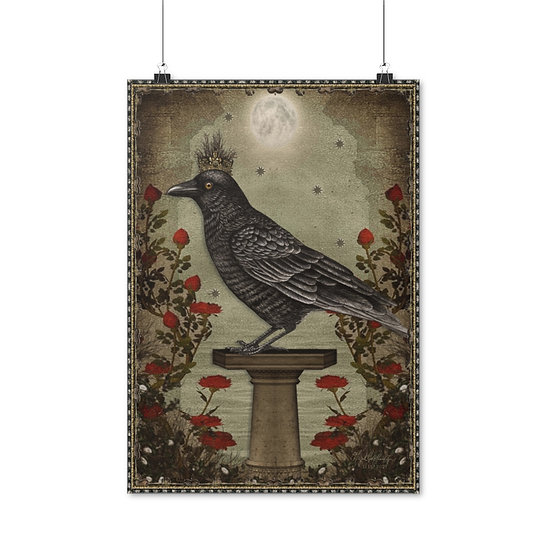 """Gothic Graffiti ™ """"Crowned Raven"""" Poster"""