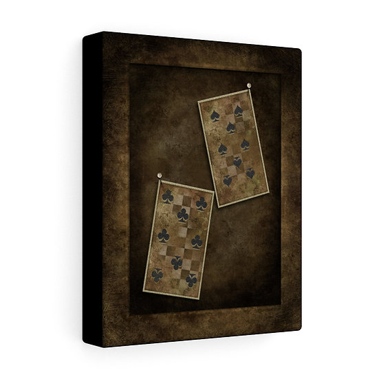 "Gothic Graffiti™ ""Aces & Eights: The Eights"" Stretched Canvas"