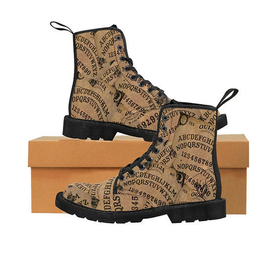 "Gothic Graffiti™ ""Spirit Board"" Men's Canvas Boots"