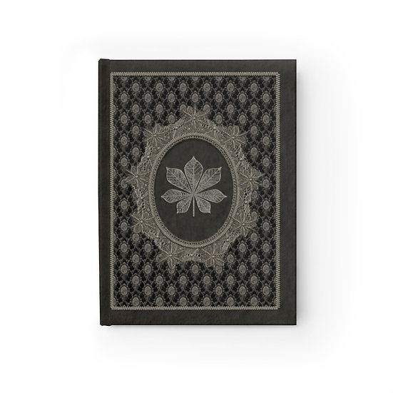 """Gothic Graffiti™ """"Vintage Chestnut Lace"""" Hardcover Ruled Line Journal"""