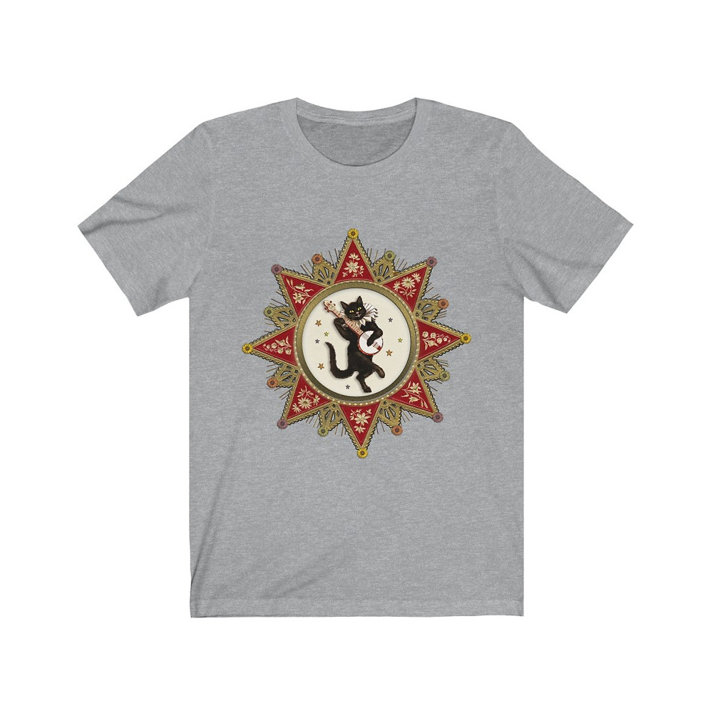 """Magical Banjo Cat"" Unisex Jersey Short Sleeve Tee"