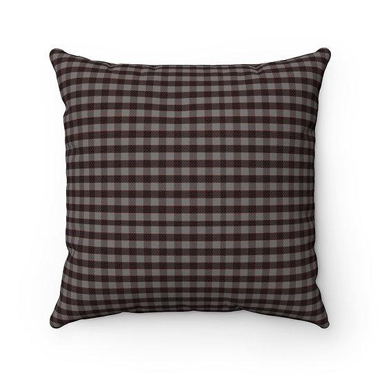 Gothic Graffiti™ Square Black/Gray Halloween Pillow