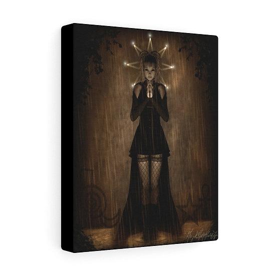 """Gothic Graffiti™ """"This Prayer is for Rain"""" 8x10 Canvas"""