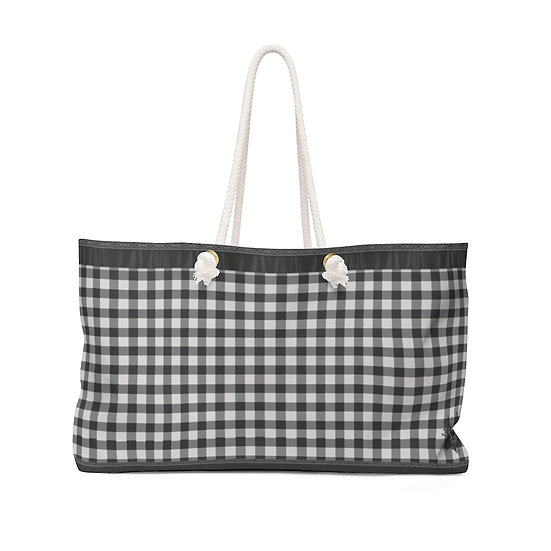 "Gothic Graffiti™ ""Gothic Gingham"" Weekender Bag"