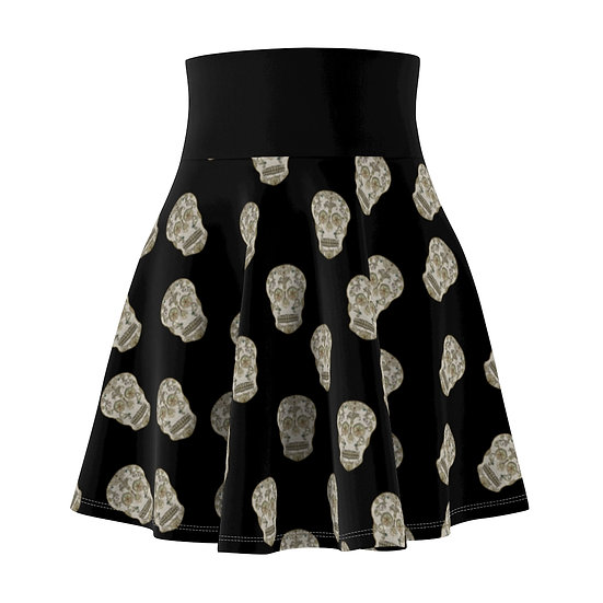 Gothic Graffiti™ Jeweled Sugar Skull Skater Skirt