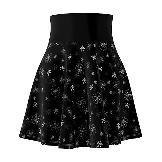 """Gothic Graffiti™ """"Atomic Flowers"""" Skater Skirt"""