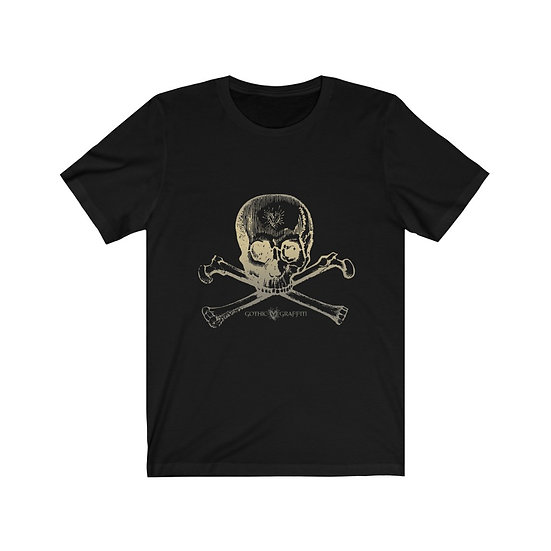 "Gothic Graffiti™ ""Create Thyself"" Skully Bones Unisex T-shirt"