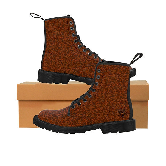 Gothic Graffiti™ Mossy Orange Women's Canvas Boots
