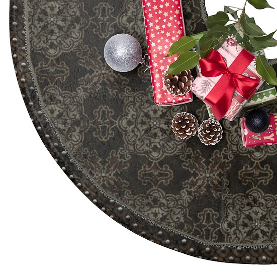"""Gothic Graffiti™ """"Medieval Brown"""" Holiday Tree Skirt/Table Covering"""