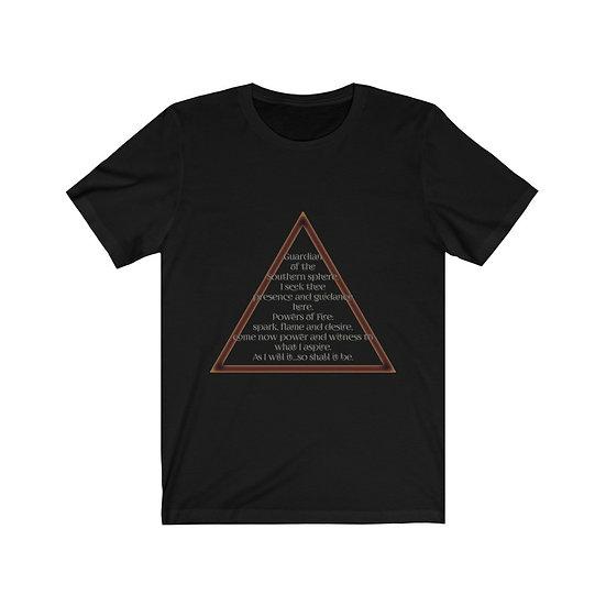 "Gothic Graffiti™ ""Evocation of Fire"" Unisex Short Sleeve T-Shirt"