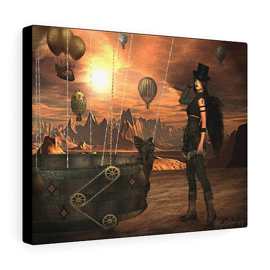 "Gothic Graffiti™ ""The Dust Witch"" on Canvas"