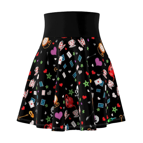 "Gothic Graffiti™ ""Sinister Tea Sorority"" Skater Skirt"