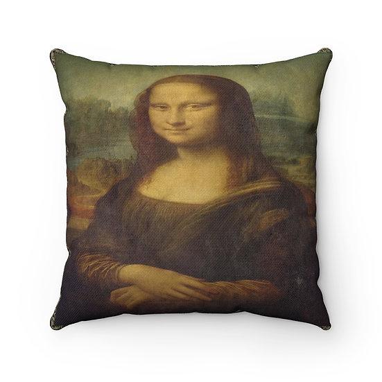 Gothic Graffiti™ Mona Lisa Square Pillow