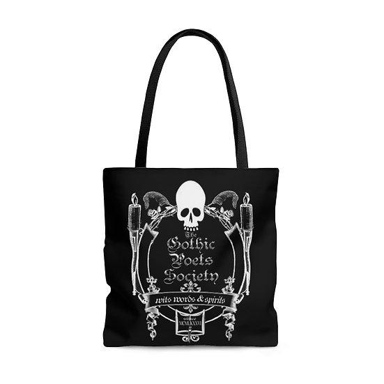 "Gothic Graffiti™ ""The Gothic Poets Society"" Tote Bag"