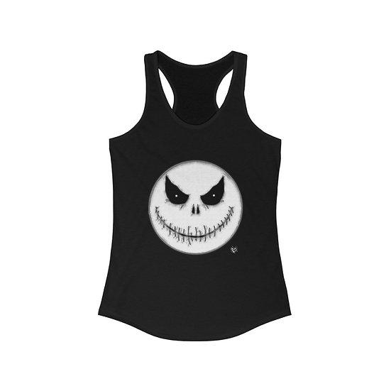 """""""Spooky Moon Halloween Face"""" Women's Ideal Racerback Tank"""