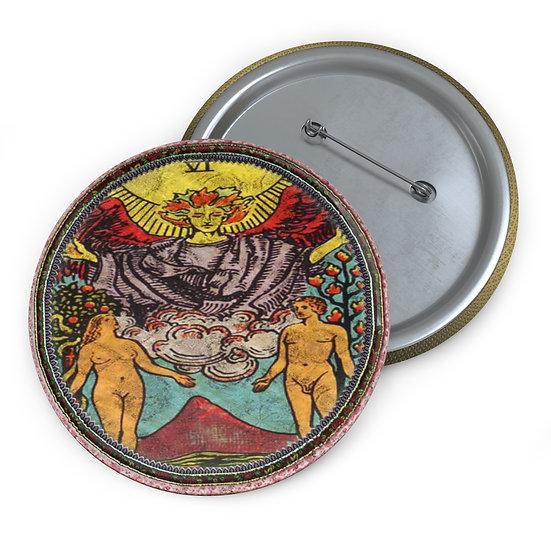 Tarot Card Button Pin-The Lovers