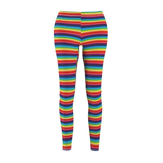 Gothic Graffiti™ Rainbow Striped Skinny Leggins