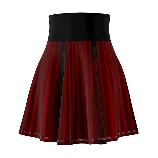 Gothic Graffiti™ Red & Black Cutey Skull Skater Skirt