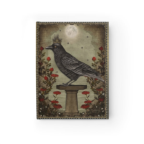 "Gothic Graffiti ™ ""Crowned Raven"" Journal - Ruled Line"