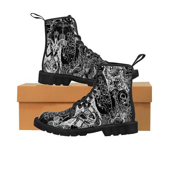 "Gothic Graffiti™ ""Occultish"" Men's Canvas Boots"