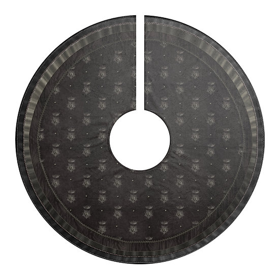 Gothic Graffiti™ Crowned Star (Coal) Holiday Tree Skirt/Table Covering