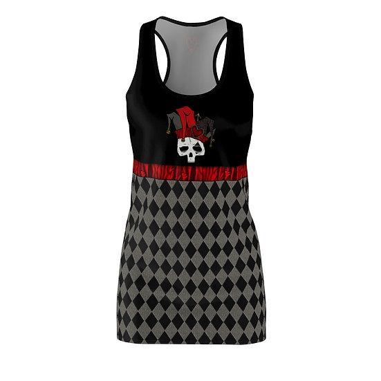 "Gothic Graffiti™ ""Harlequin NecRomance"" Racerback Dress"
