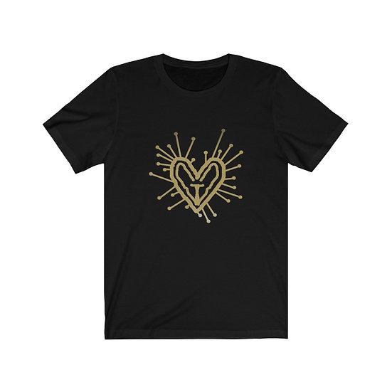Gothic Graffiti™ Black & Gold Unisex T-shirt