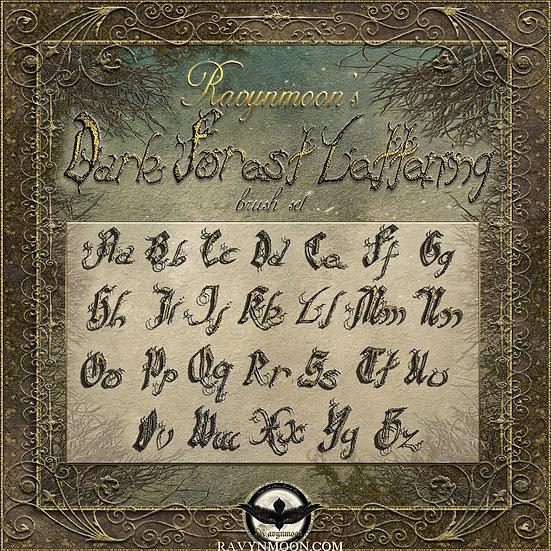 Ravynmoon's Dark Forest Lettering Brushes
