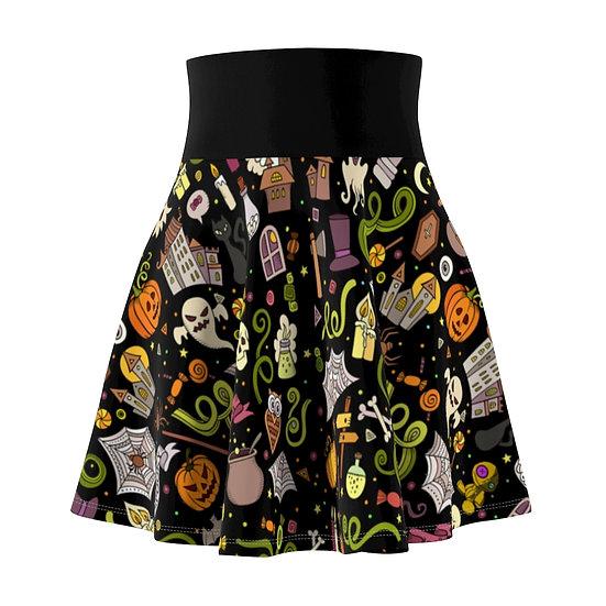 Gothic Graffiti™ Halloweeny Skater Skirt