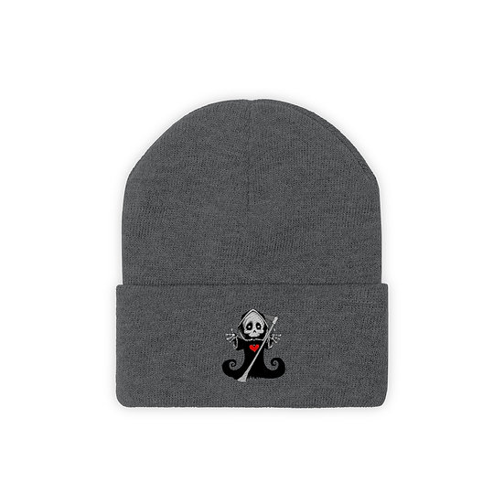 """Gothic Graffiti™ """"Cute Death"""" Knit Beanie"""