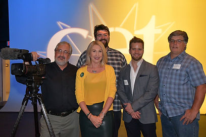 Film crew, videographers Glenn Hartong,