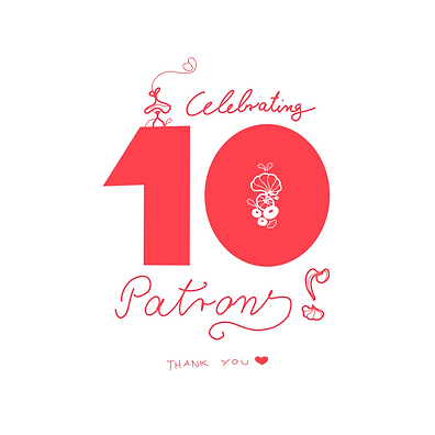 Celebrating-10 patrons on my patreon page where I share one video a month about my art practises behind the scene, life in rural New Zealand and my tiny house art studio. Come join us!