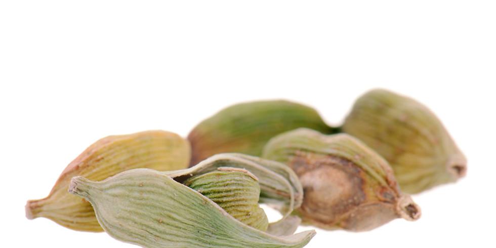 June Virtual Restorative Aroma Yoga Featuring Cardamom