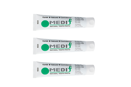 MEDIF Charcoal Black Natural Toothpaste - (130g x 3 pcs pack)
