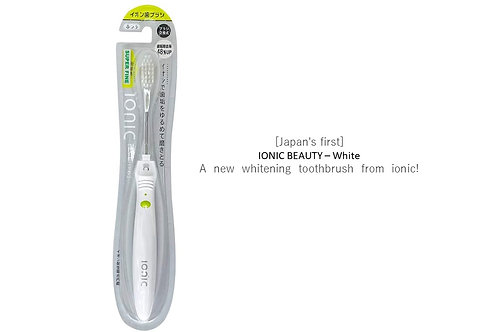 Ionic Beauty (White) - Japan 1st manual toothbrush with negative ion