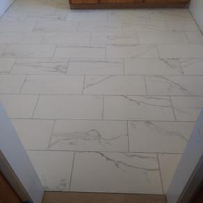 Florida Precious Calacatte Matte 12x24  Installed by Habelt Custom Tile