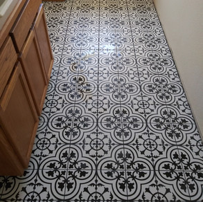 Client Provided Tile- Similar look United Tile Hydraulic by Apavisa in Black