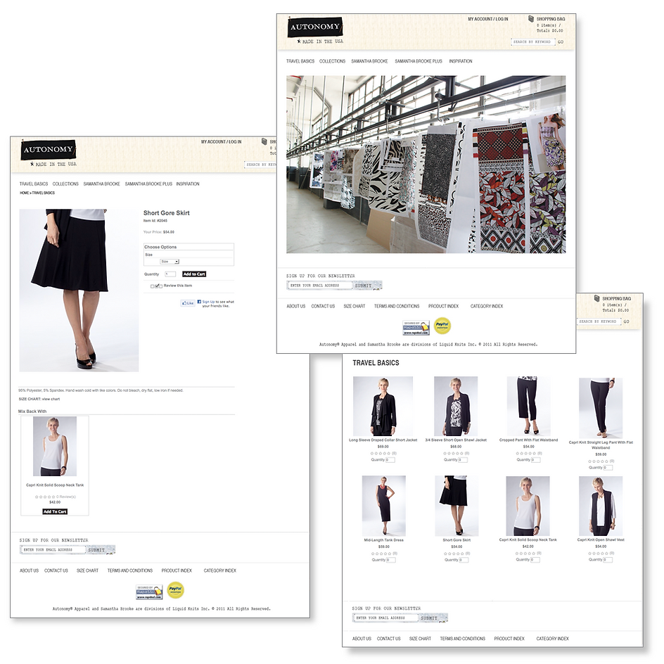 Autonomy Website – Liquid Knits Inc. – New York City