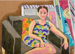 Paula in my Studio