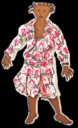 jasmin with dress from berlin