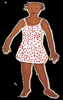jasmin red heart nightdress