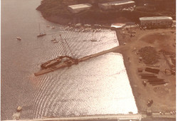 Old Crown Bay Pier Construction