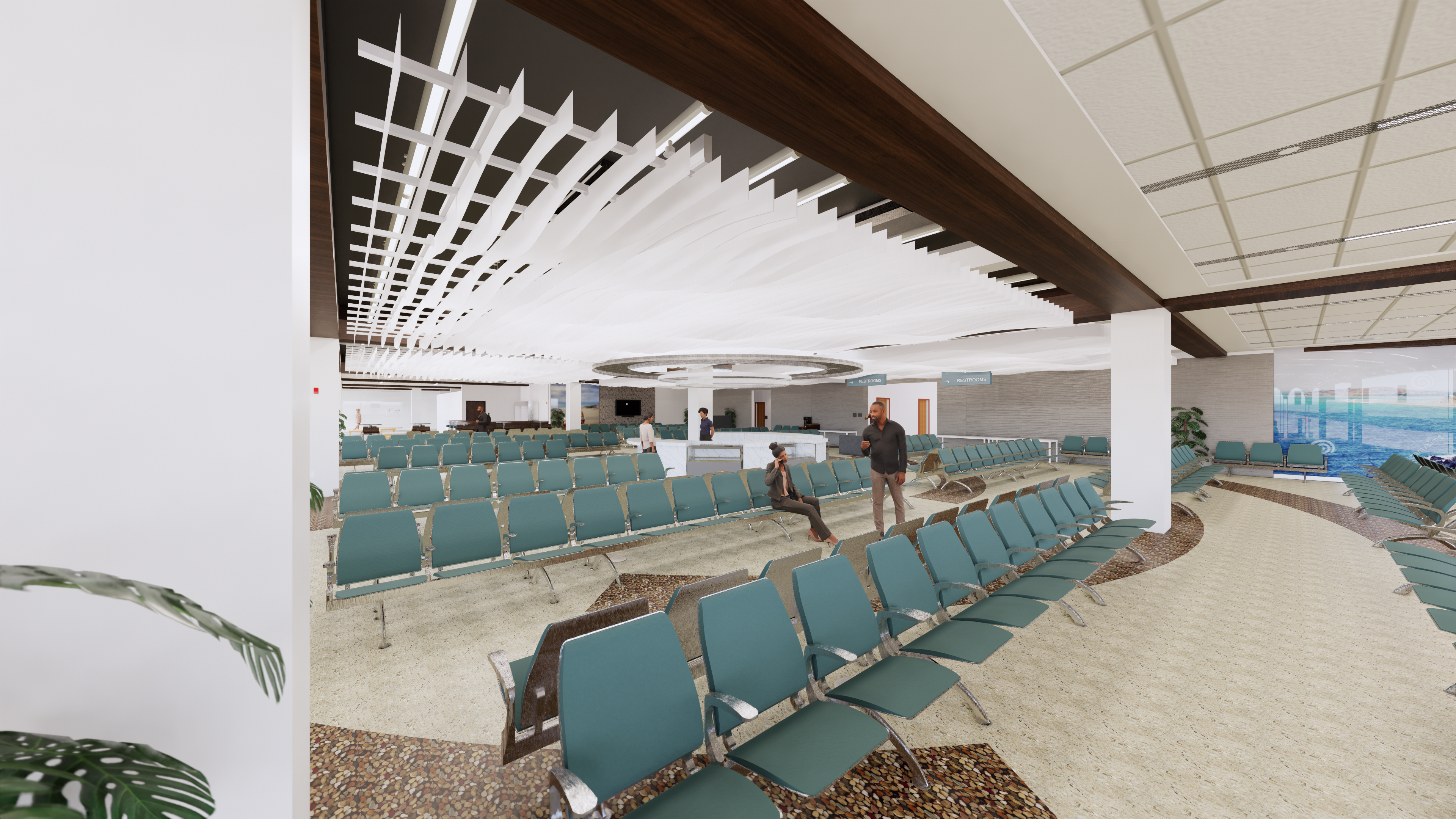 HERA Terminal New Hold Room Rendering