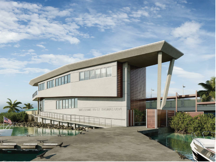 Rendering of New Customs Building at Red Hook