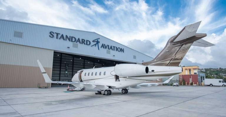 Exterior of Standard Aviation Hanagar