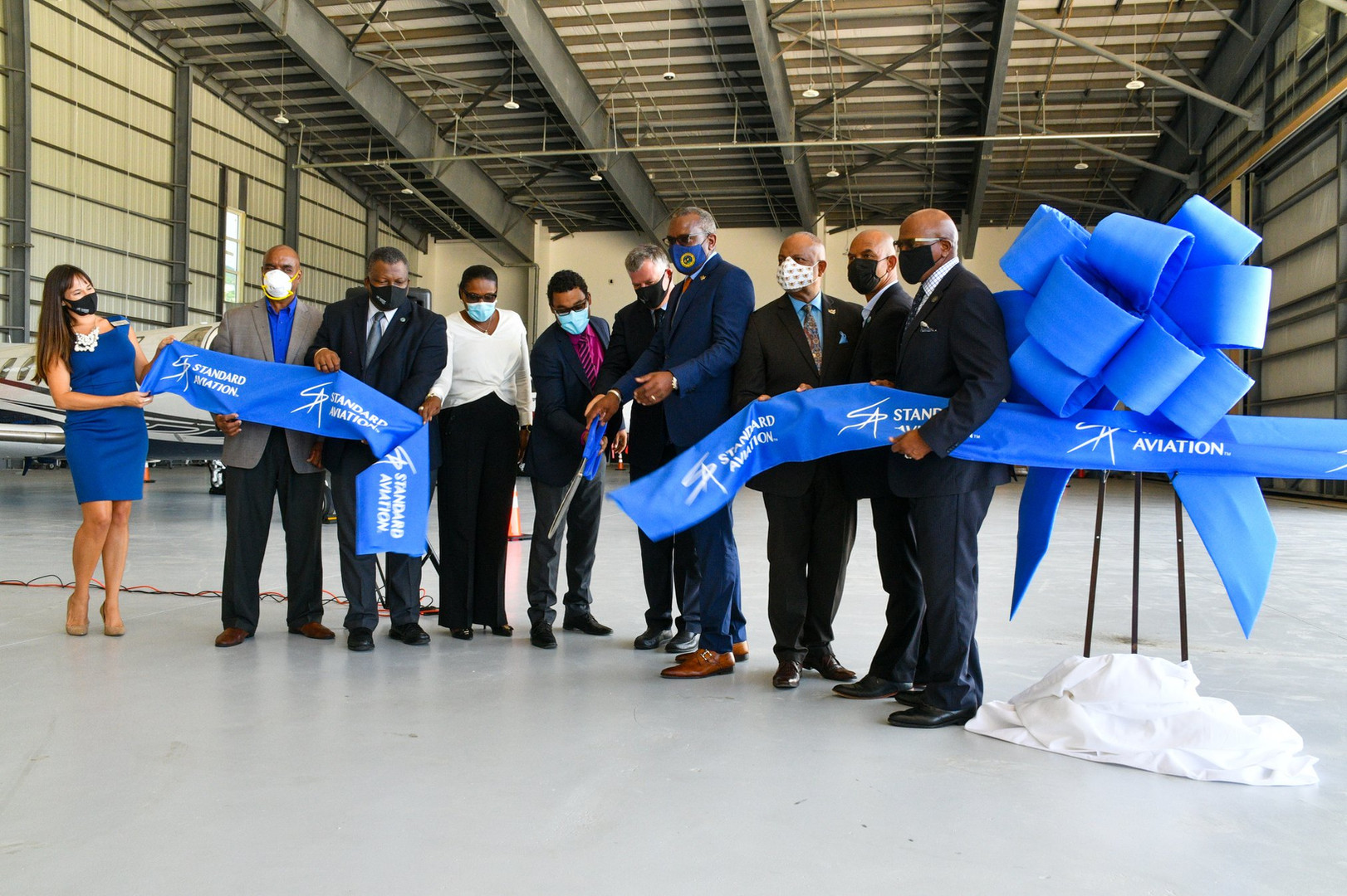 Standard Aviation FBO Ribbon Cutting Ceremony 7 Oct 2020