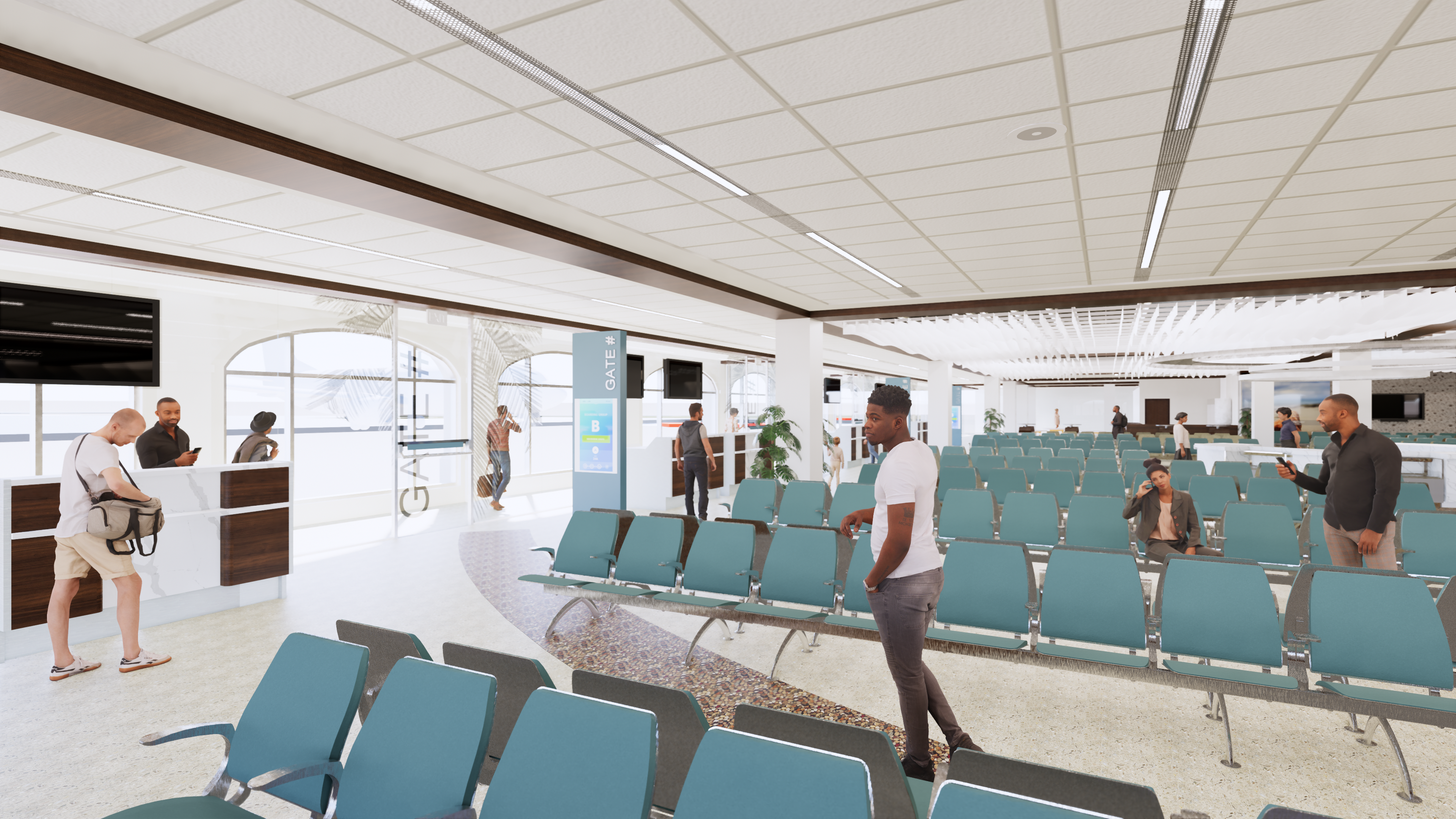 HERA Terminal New Gate Area Rendering