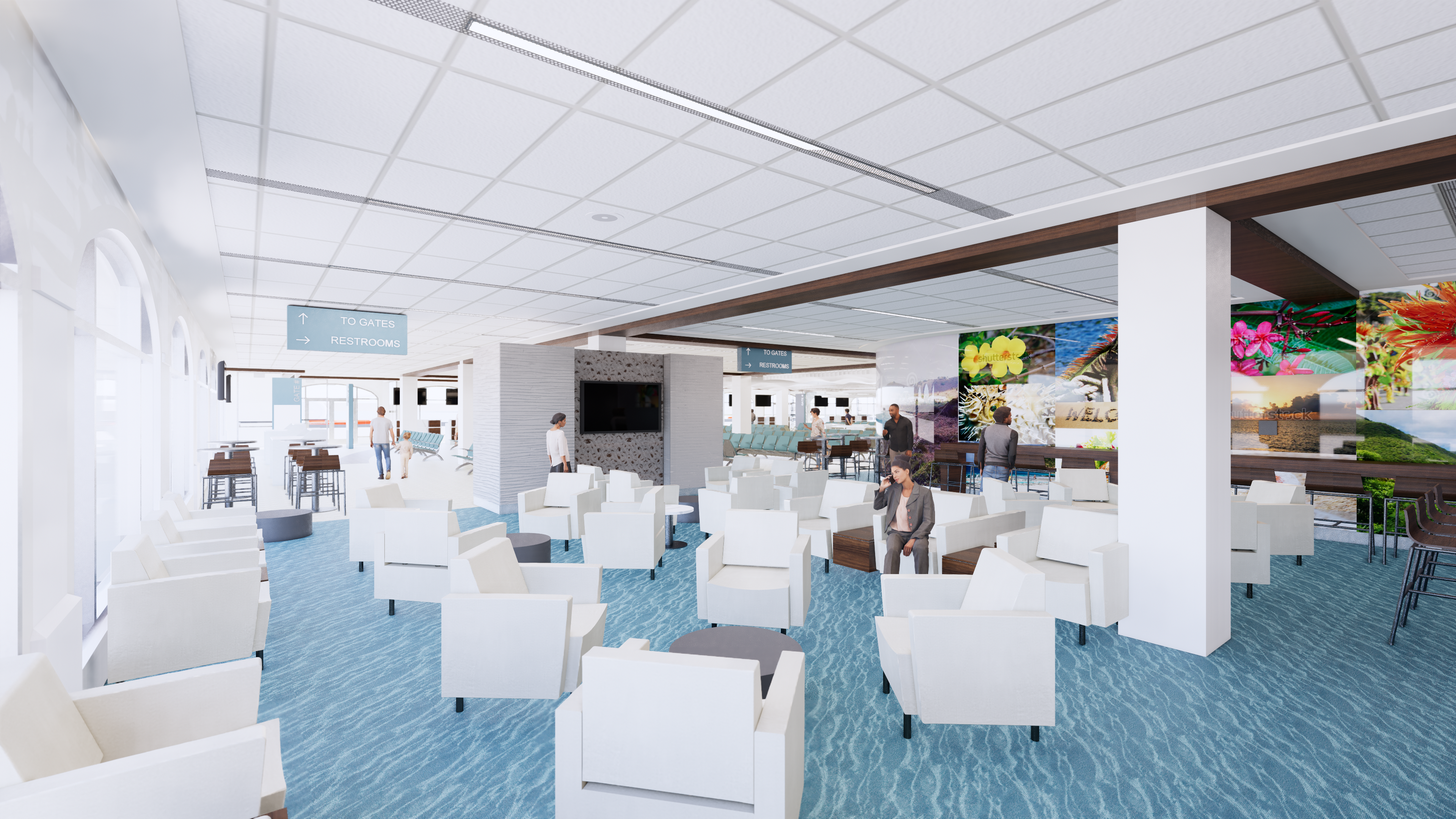 HERA Terminal New Lounge Area Rendering