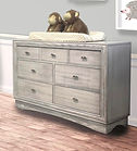 Preston double dresser in Rustic White