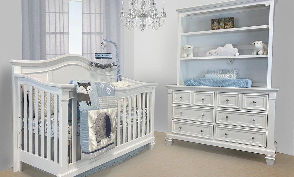 Victoria Crib with Glendale dresser set
